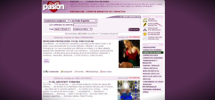 spam web de clasificados cpa