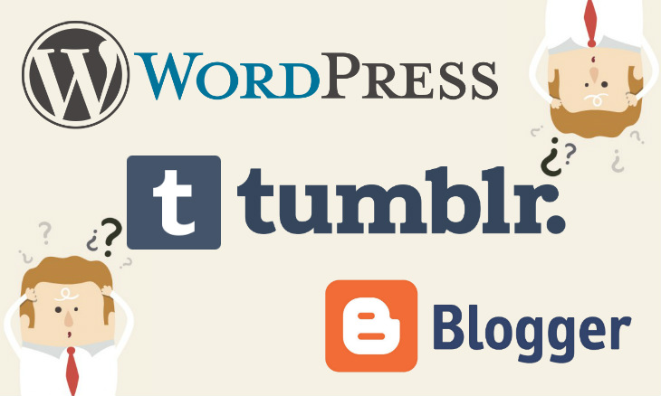 hacer un blog wordpress blogger tumblr